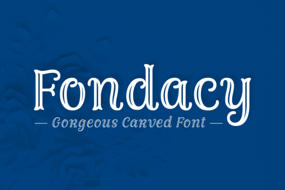 Print on Demand: Fondacy Carved Script & Handwritten Font By Jasm (7NTypes) - Image 1