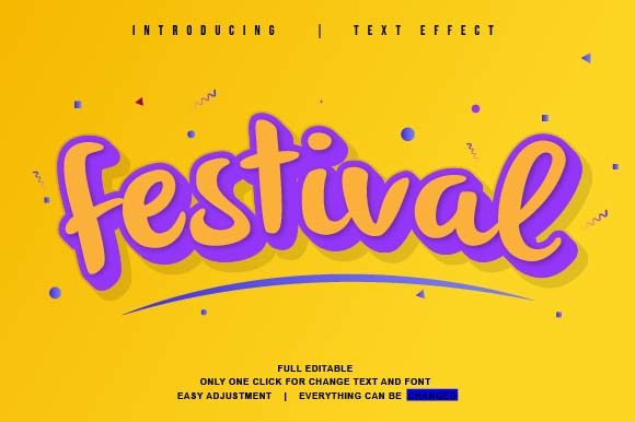 Print on Demand: Full Colour Theme Vector Text Effect Graphic Actions & Presets By twinletter