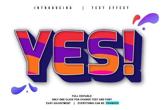 Print on Demand: Full Colour Theme Vector Text Effect Graphic Graphic Templates By twinletter