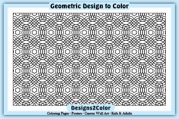 Print on Demand: Geometric Design Graphic Coloring Pages & Books Adults By Designs 2 Color