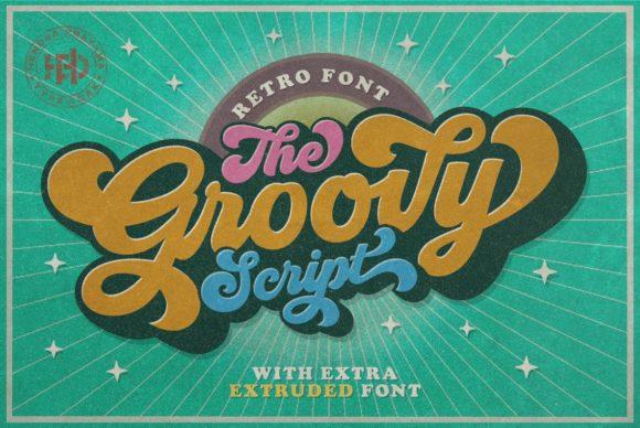 Print on Demand: Groovy Script & Handwritten Font By hptypework
