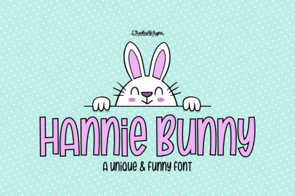 Download Free Hannie Bunny Font By Studioaktype Creative Fabrica for Cricut Explore, Silhouette and other cutting machines.