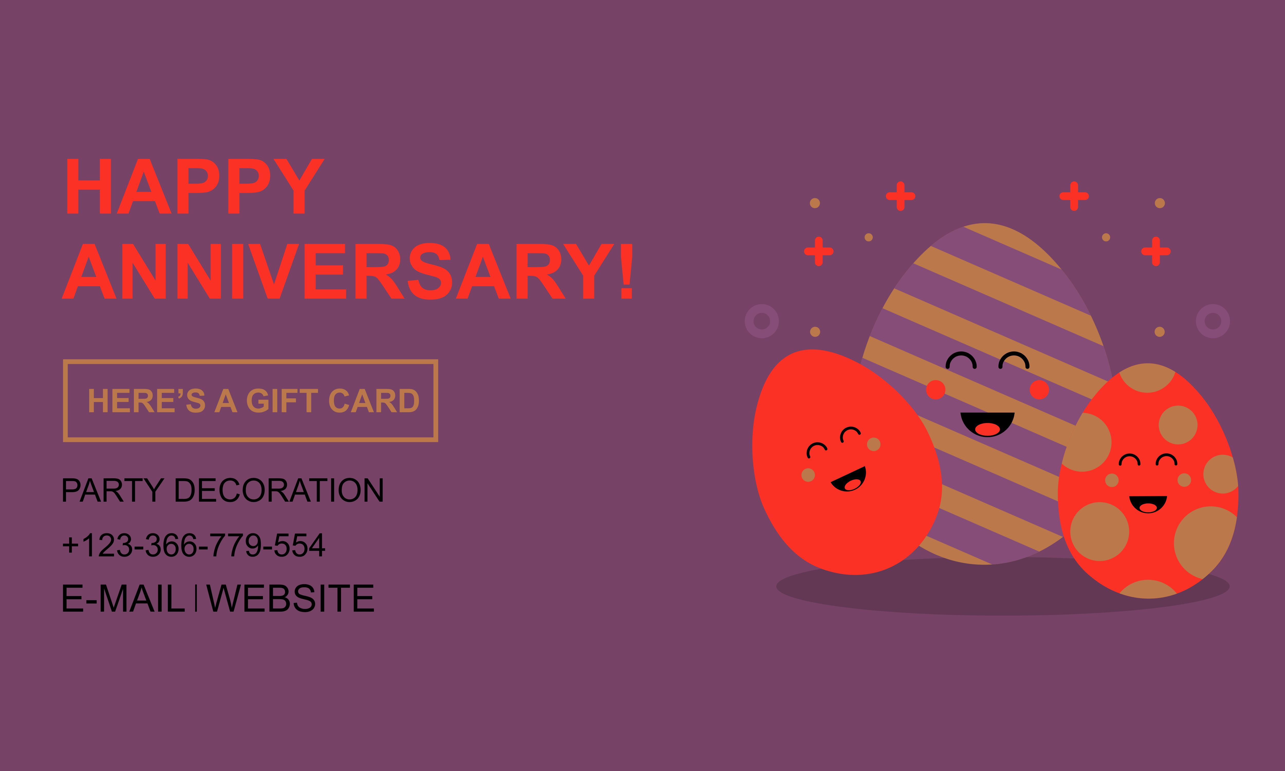 Download Free Happy Anniversary Card Greeting Flat Graphic By Deemka Studio for Cricut Explore, Silhouette and other cutting machines.