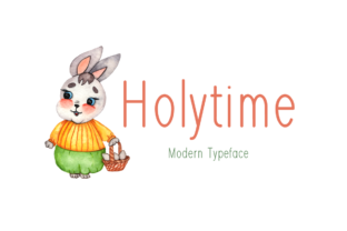 Print on Demand: Holytime Display Font By Seemly Fonts