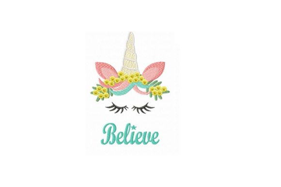 I Believe in Unicorns Woodland Animals Embroidery Design By Julie Dunn
