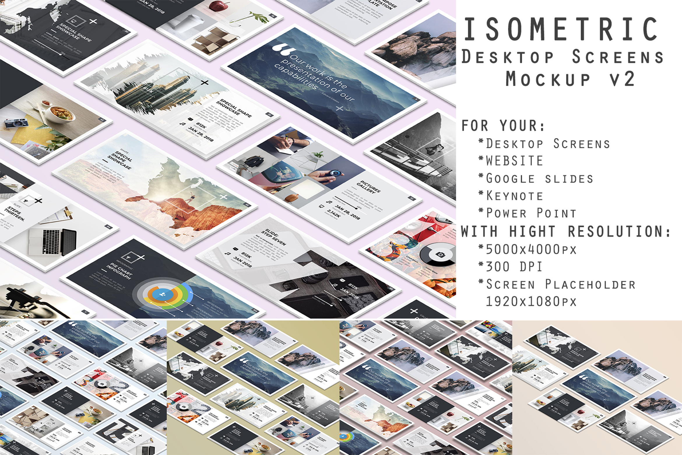 Download Free Isometric Desktop Screens Mockup Graphic By R Graphicsdesign for Cricut Explore, Silhouette and other cutting machines.