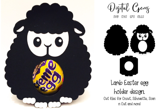 Download Free Lamb Easter Egg Holder Design Graphic By Digital Gems Creative for Cricut Explore, Silhouette and other cutting machines.