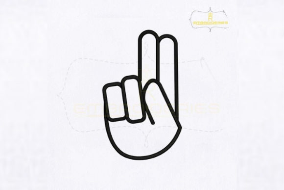 Letter U Hand Sign School & Education Embroidery Design By RoyalEmbroideries
