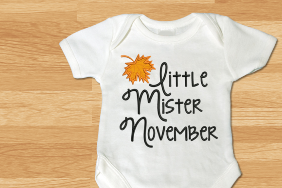 Download Free Little Mister November Leaf Applique Creative Fabrica for Cricut Explore, Silhouette and other cutting machines.