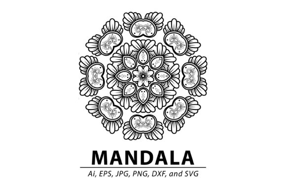 Download Free Mandala Pattern Graphic By Redsugardesign Creative Fabrica for Cricut Explore, Silhouette and other cutting machines.