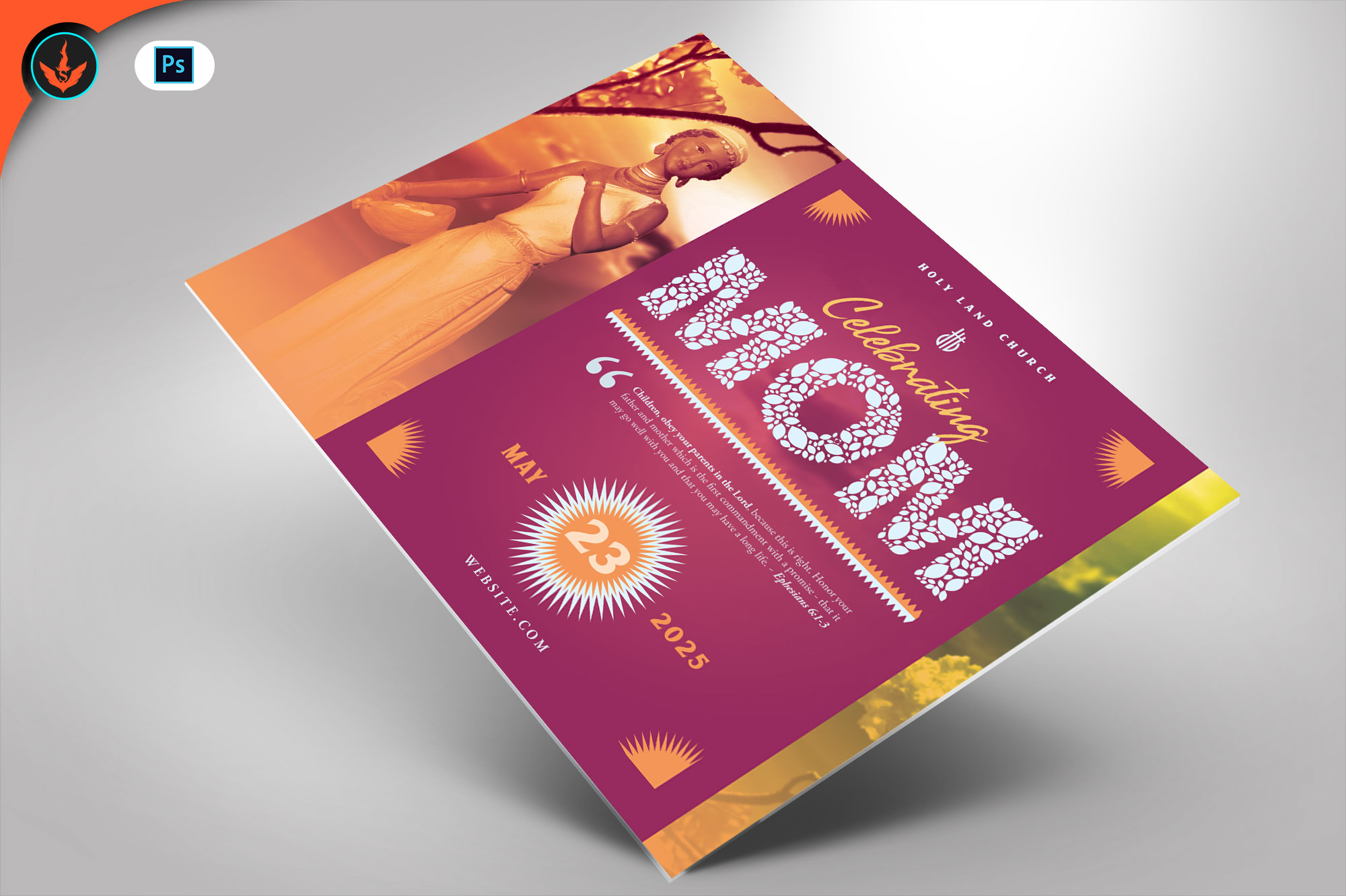 Download Free Mother S Day Church Flyer Template 2 Graphic By Seraphimchris SVG Cut Files