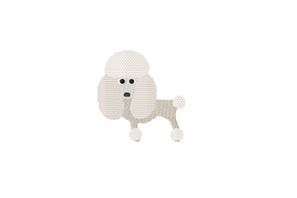 Pretty Poodle Dogs Embroidery Design By Julie Dunn