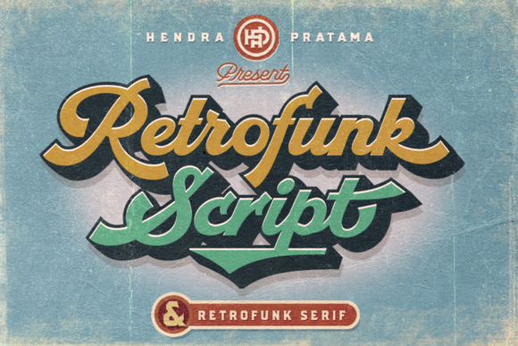 Print on Demand: Retrofunk Script & Handwritten Font By hptypework