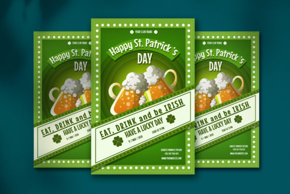 Print on Demand: Saint Patrick's Day Poster Graphic Illustrations By jannta