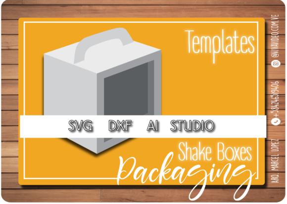 Download Free Box Template Shaker Graphic By Marcel De Cisneros Creative for Cricut Explore, Silhouette and other cutting machines.