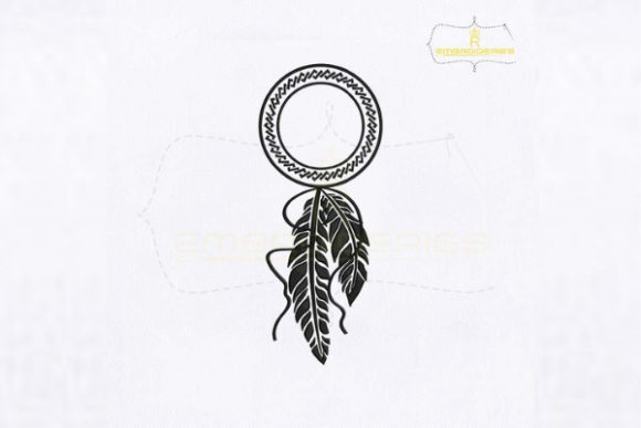 Silhouette Dream Catcher Religion & Faith Embroidery Design By royalembroideries