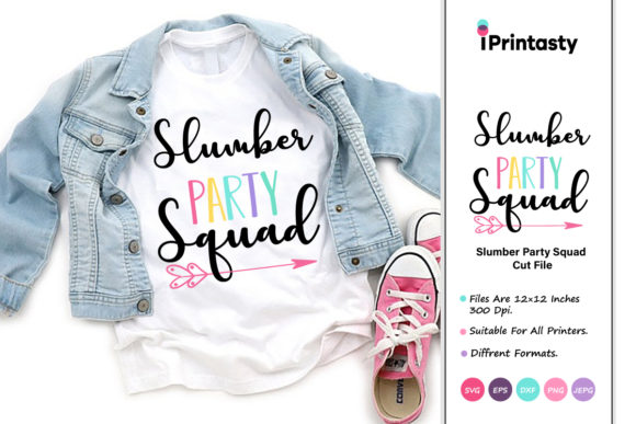 Download Free Slumber Party Squad Graphic By Iprintasty Creative Fabrica for Cricut Explore, Silhouette and other cutting machines.