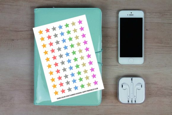 Download Free Small Stars Color Coding Dots Stickers Graphic By Happy for Cricut Explore, Silhouette and other cutting machines.