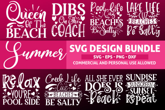 Download Free Summer Design Bundle Graphic By Subornastudio Creative Fabrica for Cricut Explore, Silhouette and other cutting machines.