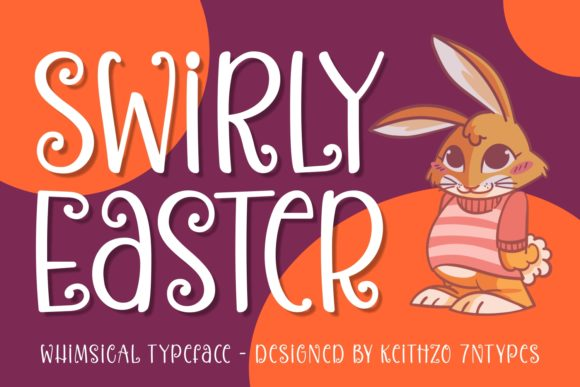 Print on Demand: Swirly Easter Script & Handwritten Font By Keithzo (7NTypes)
