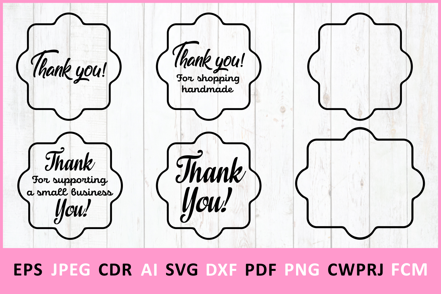 Download Free Thank You Graphic By Millerzoa Creative Fabrica for Cricut Explore, Silhouette and other cutting machines.
