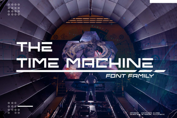 Print on Demand: Time Machine Display Font By Muhammad Ersya