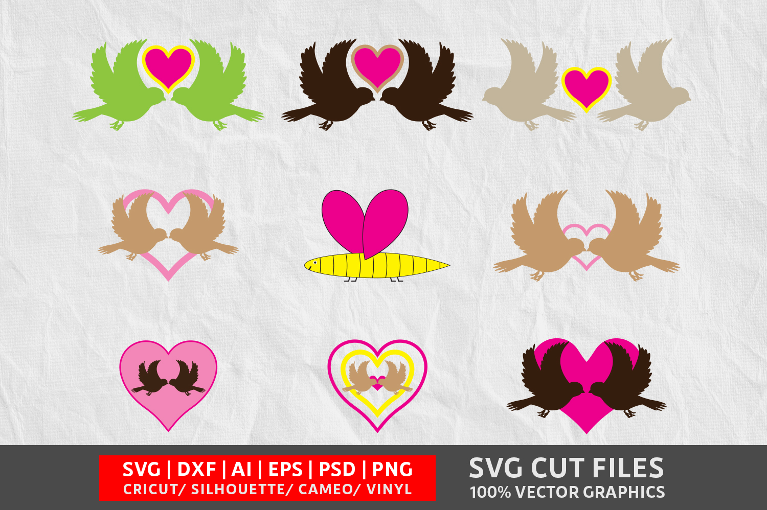 Download Free Valentine S Bird Image Graphic By Design Palace Creative Fabrica for Cricut Explore, Silhouette and other cutting machines.
