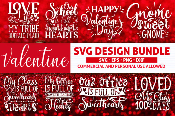 Print on Demand: Valentine's Day Bundle Graphic Crafts By SubornaStudio