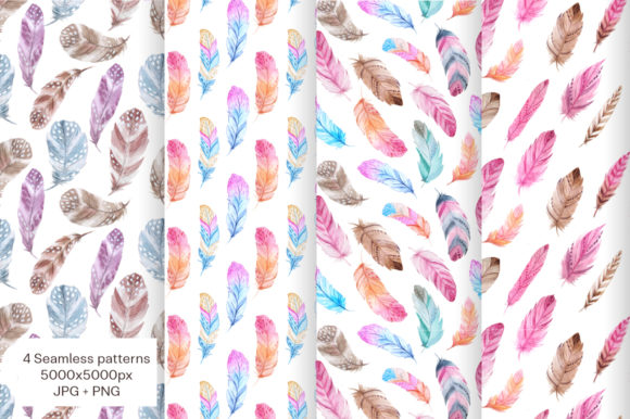 Watercolor Fairytale Feathers Set Graphic Illustrations By Larysa Zabrotskaya - Image 4