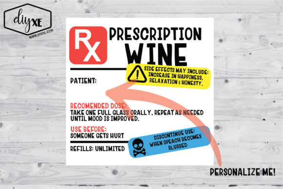 Wine Prescription Sublimation Graphic Graphic Illustrations By Sheryl Holst