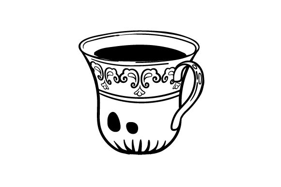 Download Free Ornate Teacup Svg Cut File By Creative Fabrica Crafts Creative for Cricut Explore, Silhouette and other cutting machines.