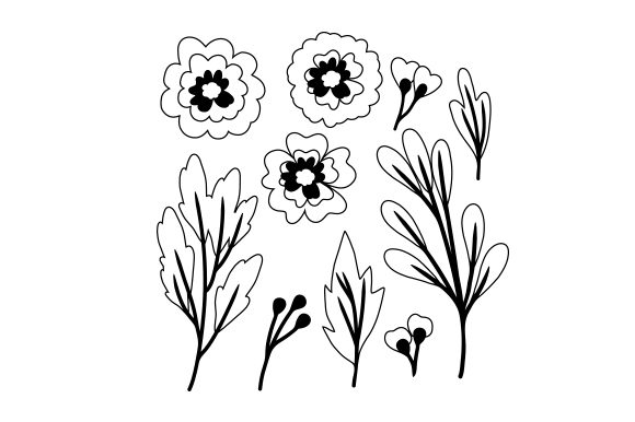 Floral Paper Designs & Drawings Craft Cut File By Creative Fabrica Crafts - Image 2