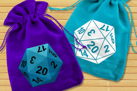 20 Sided Dice SVG Cut Files