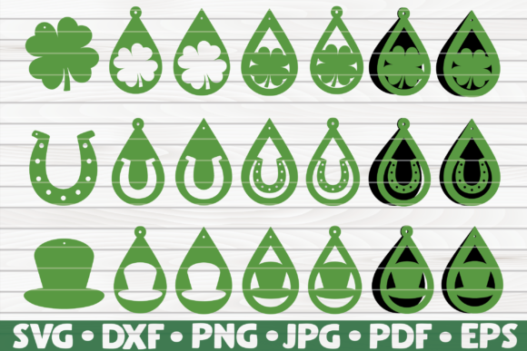 Download Free 21 St Patrick S Day Earrings Bundle Graphic By Mihaibadea95 for Cricut Explore, Silhouette and other cutting machines.