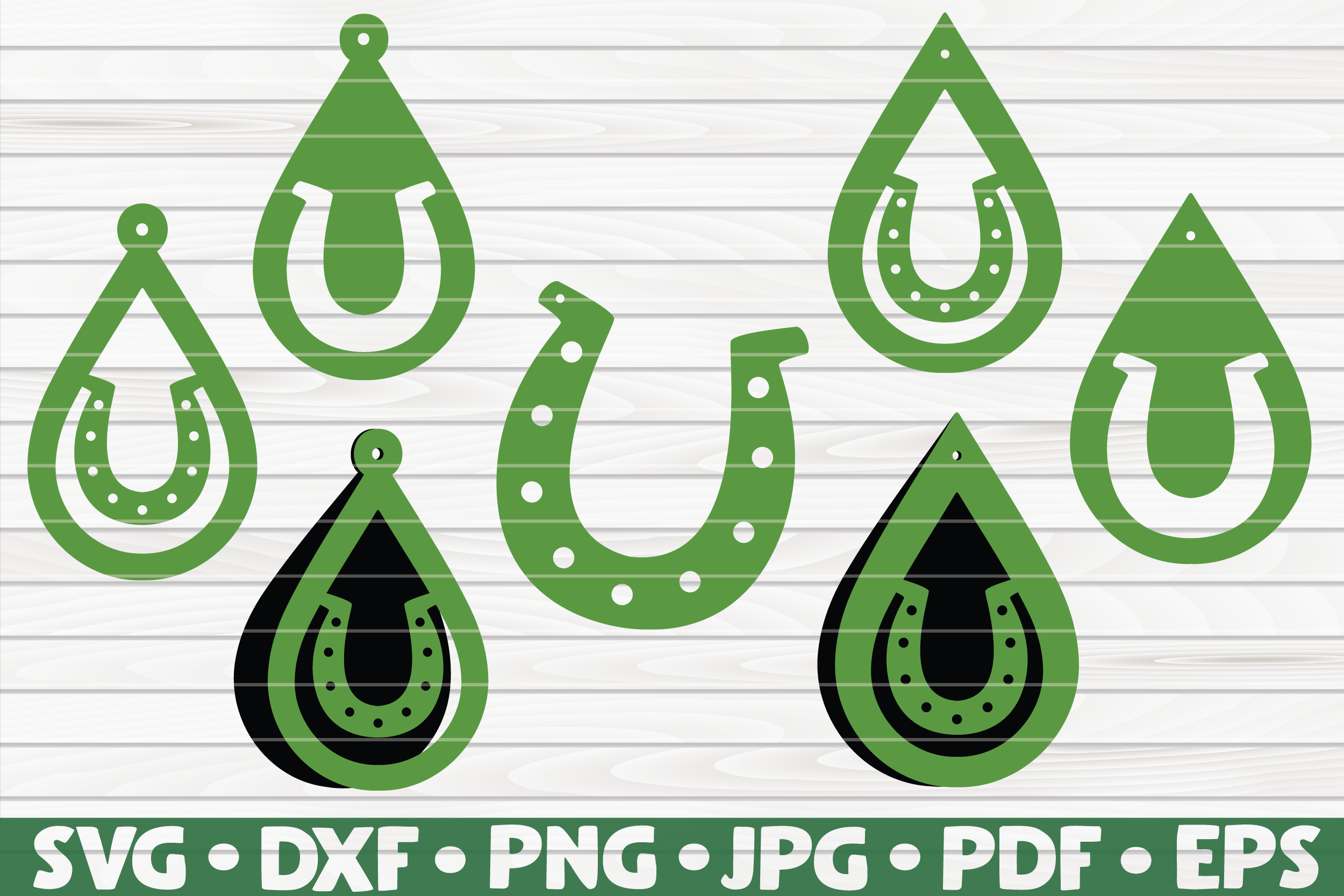 Download Free 7 St Patrick S Day Horseshoe Earrings Graphic By Mihaibadea95 for Cricut Explore, Silhouette and other cutting machines.