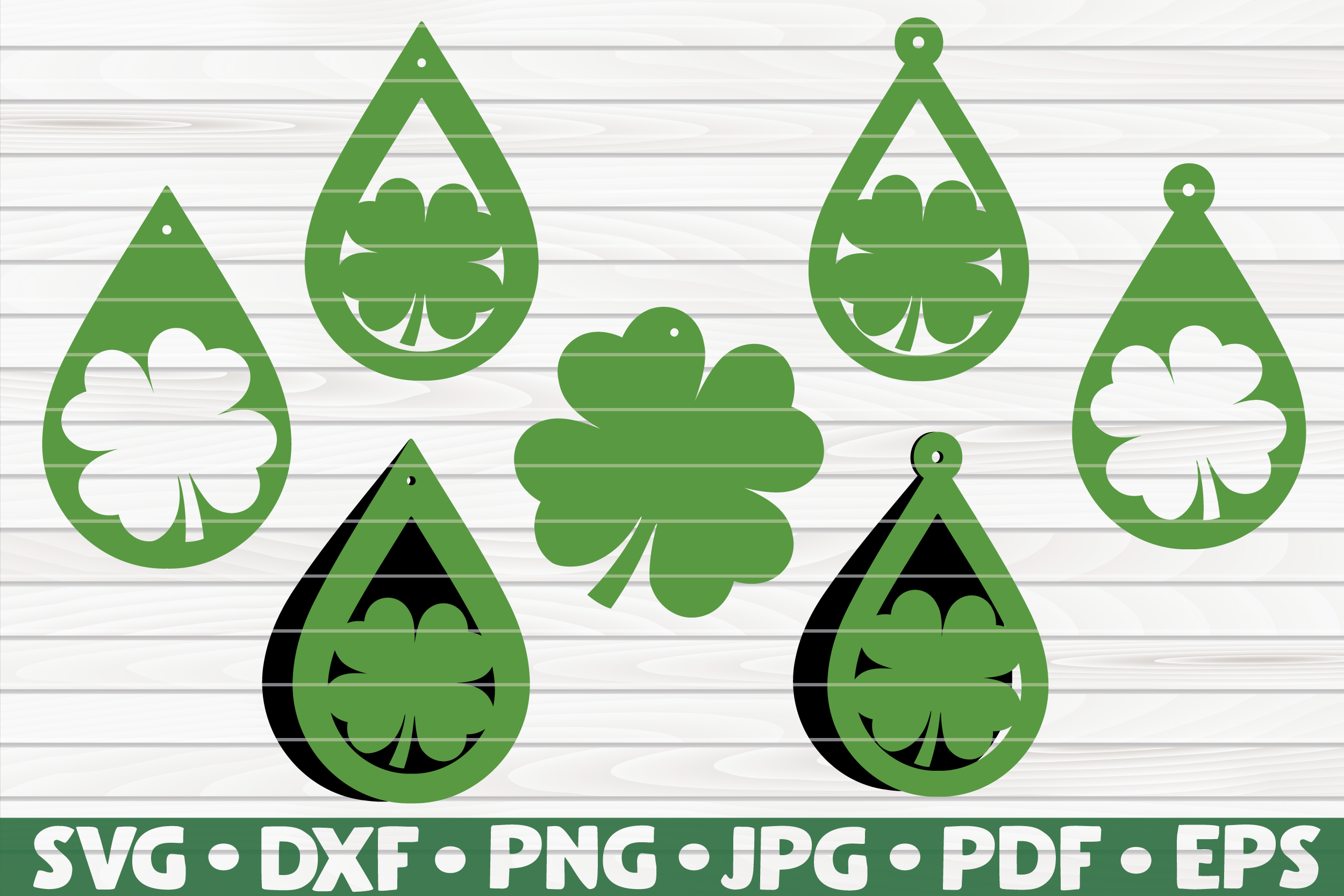 Download Free 7 St Patrick S Day Shamrock Earrings Graphic By Mihaibadea95 SVG Cut Files