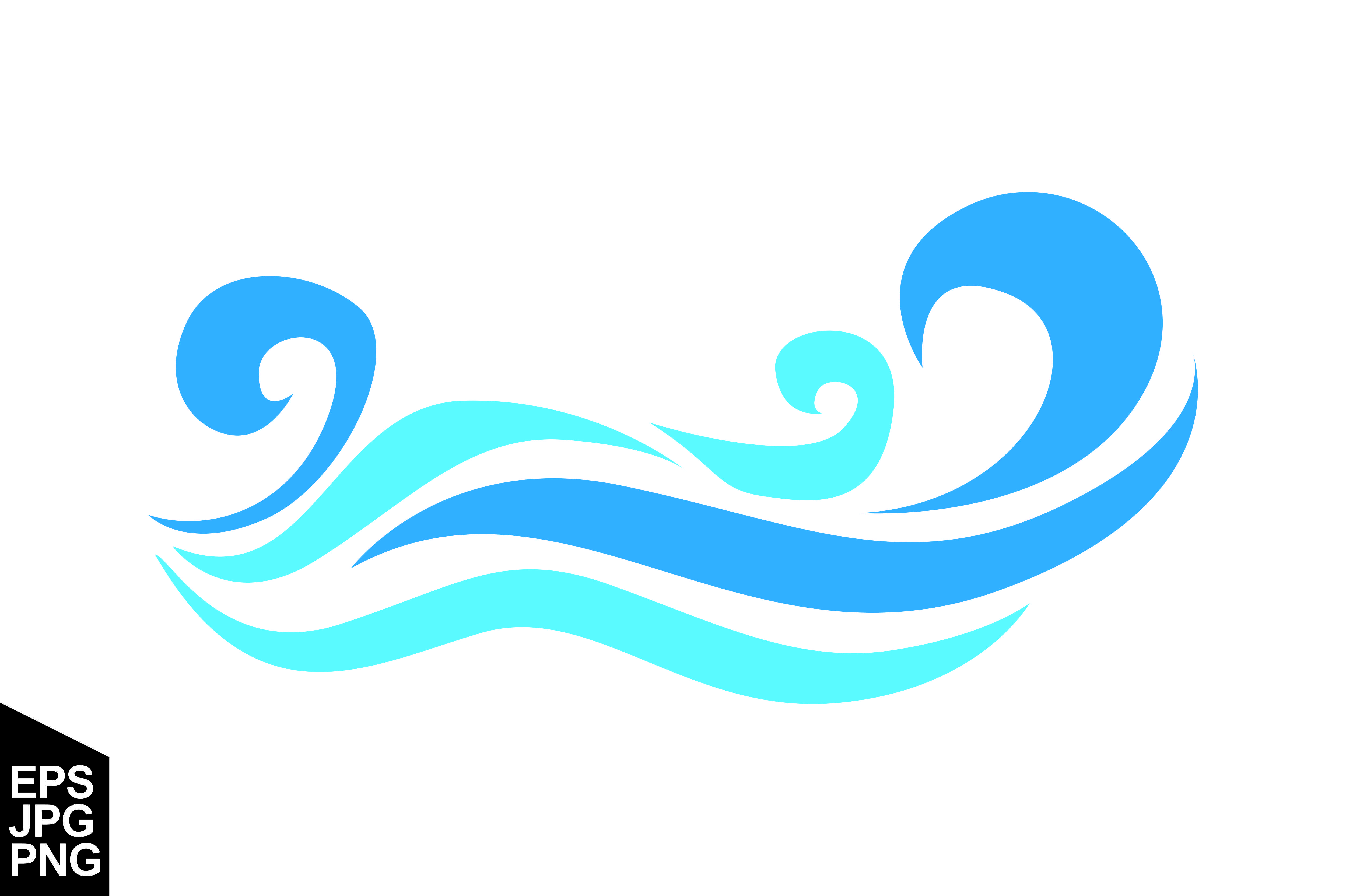 Download Free Abstract Blue Sea Waves Vector Graphic By Arief Sapta Adjie Ii SVG Cut Files