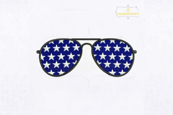 American Star Sunglasses Accessories Embroidery Design By royalembroideries
