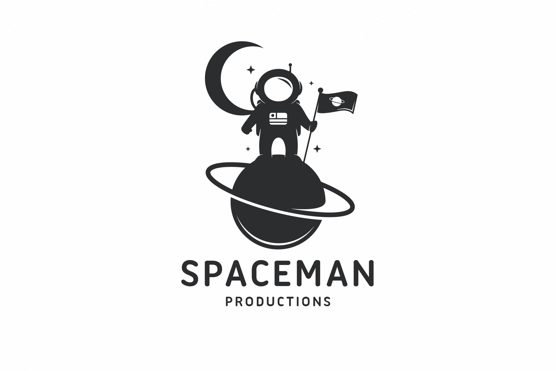 Download Free Astronaut Planet Logo Template Graphic By Vectorwithin for Cricut Explore, Silhouette and other cutting machines.