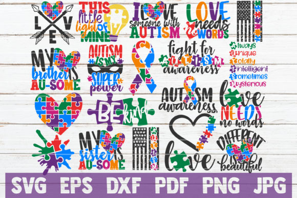 Autism Awareness Bundle Graphic Graphic Templates By MintyMarshmallows