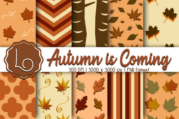 Print on Demand: Autumn is Coming - Season Patterns Graphic Patterns By La Oliveira