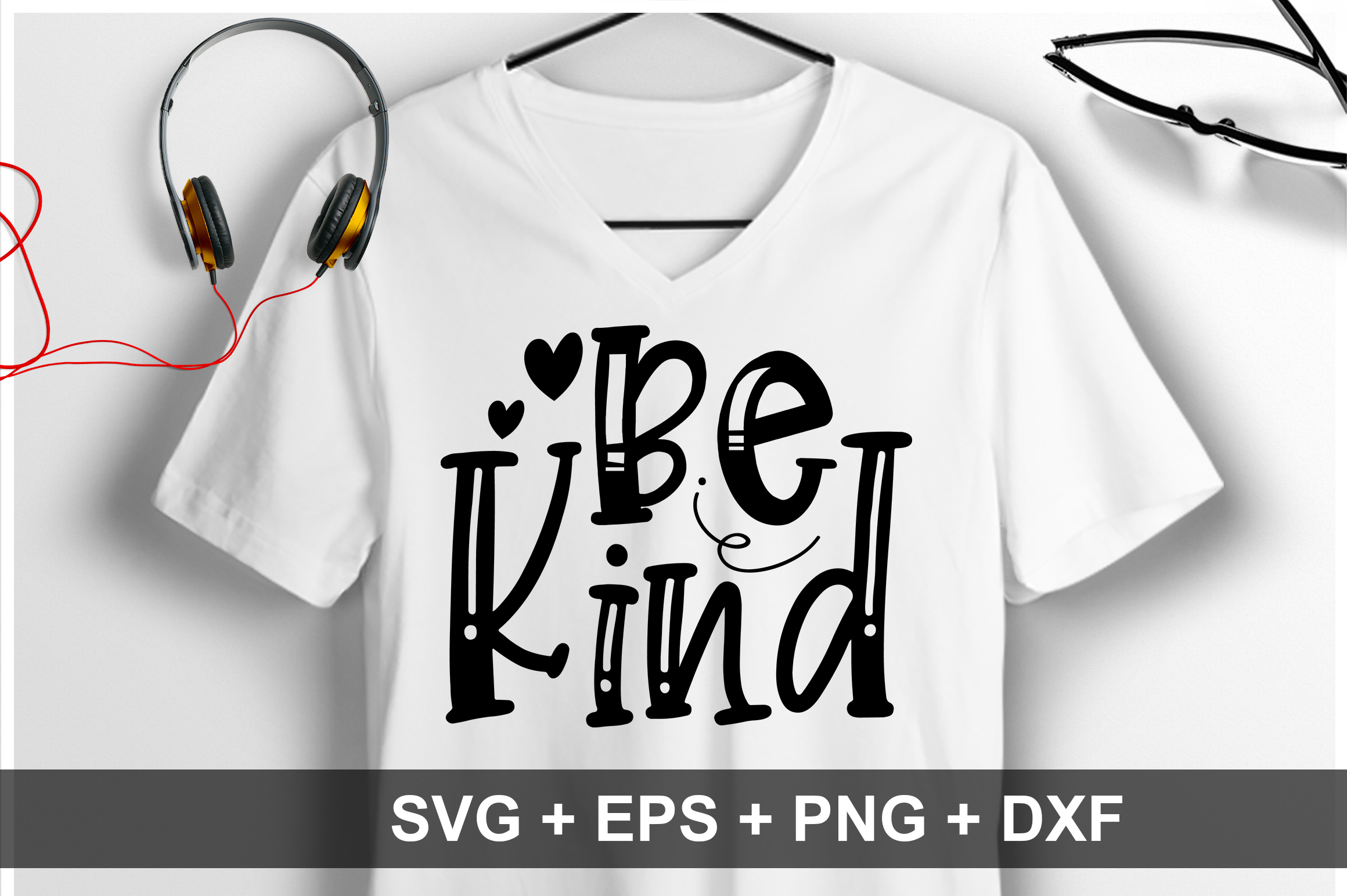 Download Free Be Kind Graphic By Orindesign Creative Fabrica for Cricut Explore, Silhouette and other cutting machines.