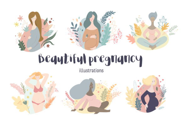 Print on Demand: Beautiful Pregnancy Illustrations Grafik Illustrationen von dasha_mo