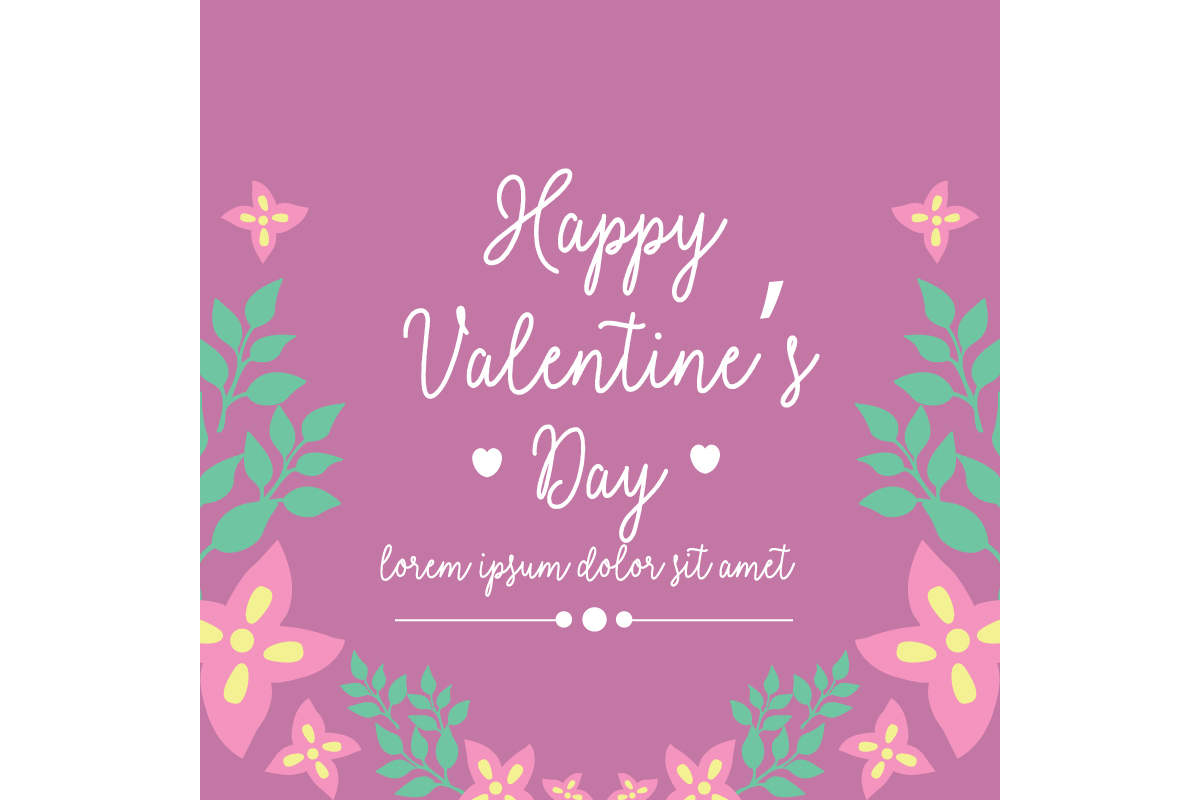 Beauty Frame For Happy Valentine Poster Graphic By Stockfloral