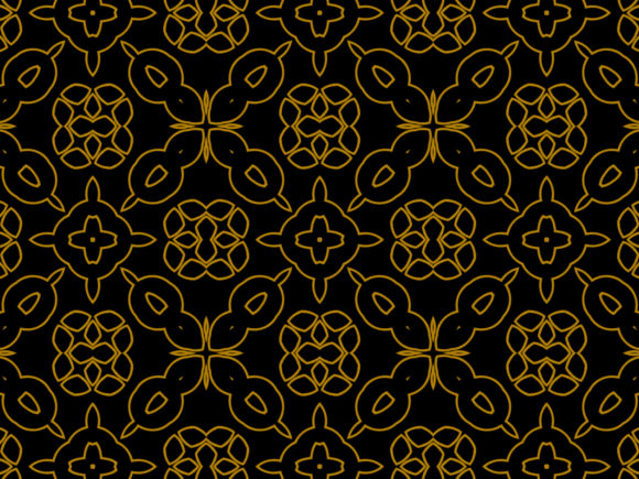 Download Free Black Yellow Kaleidoscope Pattern Graphic By Thisfishingclub for Cricut Explore, Silhouette and other cutting machines.
