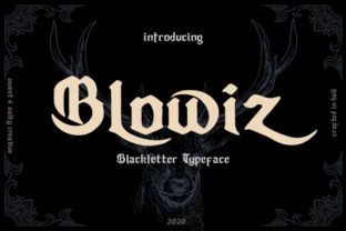 Print on Demand: Blowiz Blackletter Font By SweetSalty
