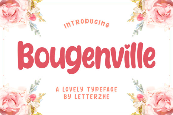 Print on Demand: Bougenville Display Font By letterzhe