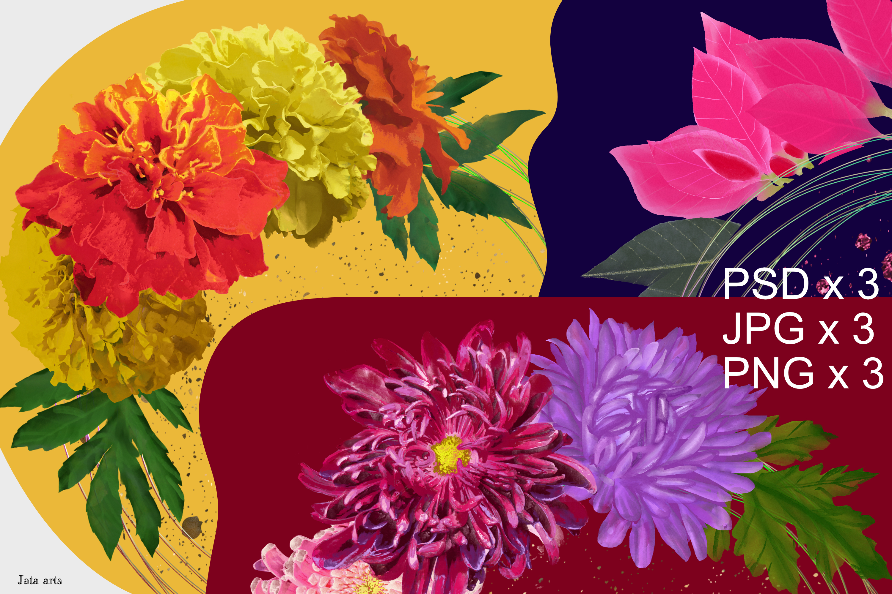 Download Free Bujo Cover Pages Floral Wreath Designs Graphic By Jata Arts for Cricut Explore, Silhouette and other cutting machines.