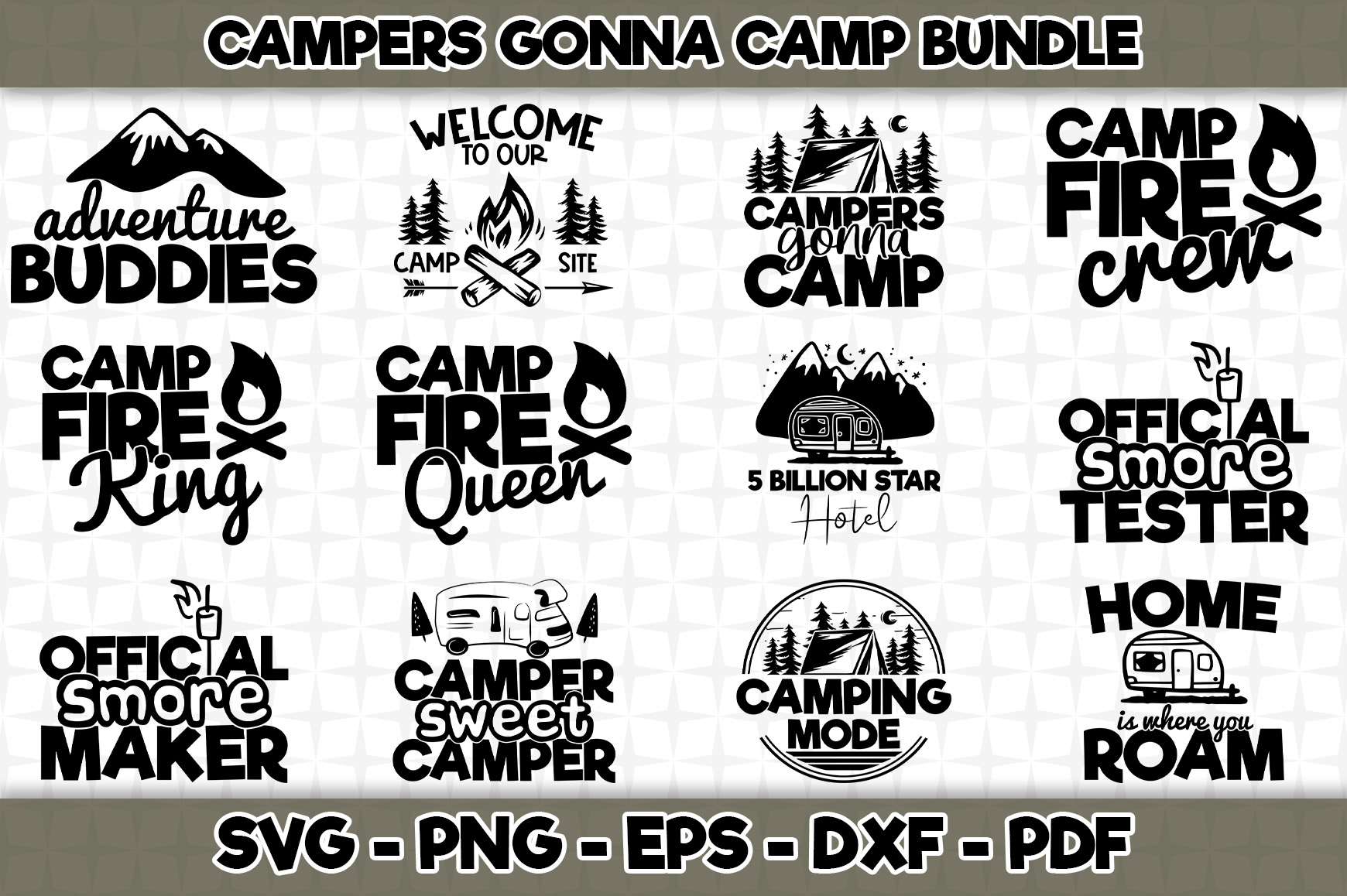Download Free Campers Gonna Camp 12 Designs Graphic By Svgexpress Creative SVG Cut Files