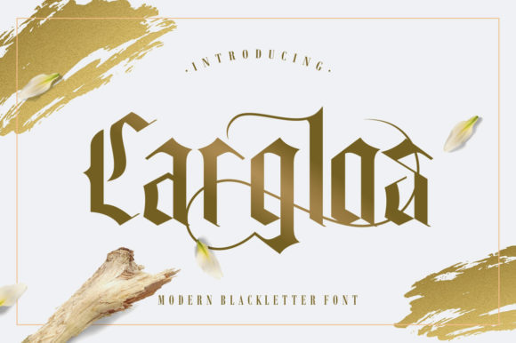 Print on Demand: Carglos Blackletter Font By HansCo - Image 1